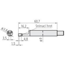 hrot k drsnoměru pro malé otvory průměr 4.5mm
