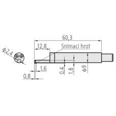 hrot k drsnoměru, průměr 2,8mm
