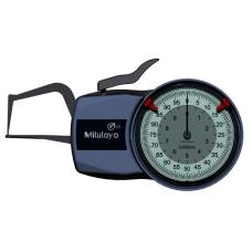 Číselníkový úchylkoměr s měřicími rameny pro vnější měření 0-10mm