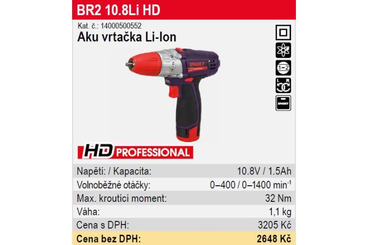 Vrtačka aku BR2 10,8 Li HD